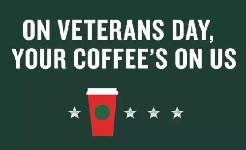 Starbucks Veterans Day Promotion
