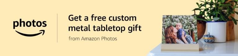 amazon photos free metal tabletop photo gift