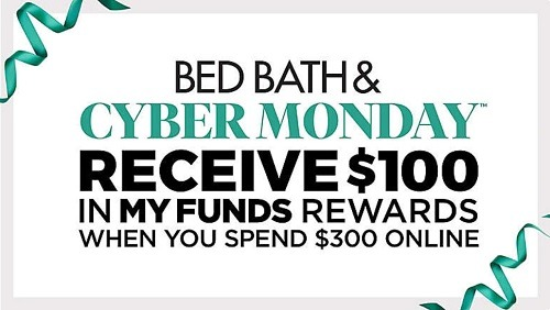 bed bath and beyond cyber monday my funds rewards