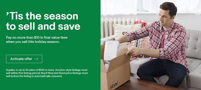 ebay holiday sell and save promotion
