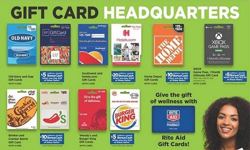 rite aid gift card promotion