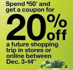 target 20 percent off coupon