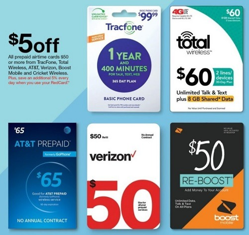target gift card promotion prepaid airtime