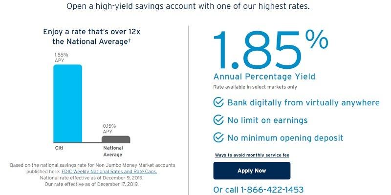 Citibank Savings Rate