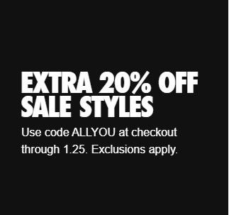 Nike 20 Pct Sale Styles Promotion