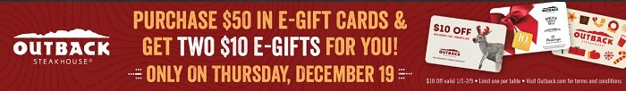 Outback Steakhouse eGiftCard Promotion