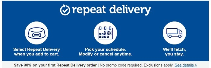 Petco Repeat Delivery Promotion