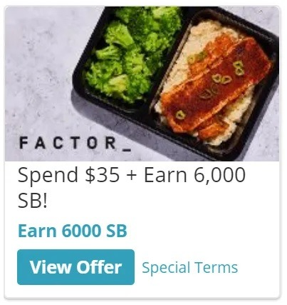 Earn 6,000 w/ Factor Sign-Up