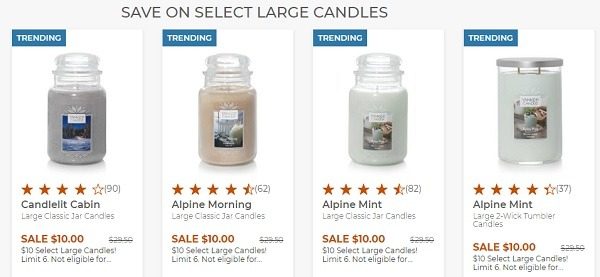 Yankee Candle Large Candle Promotion