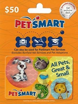 amazon petsmart gift card