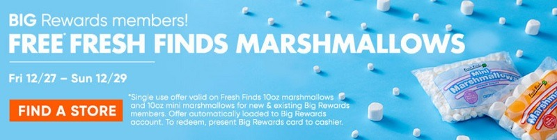 big lots free fresh finds marshmallows