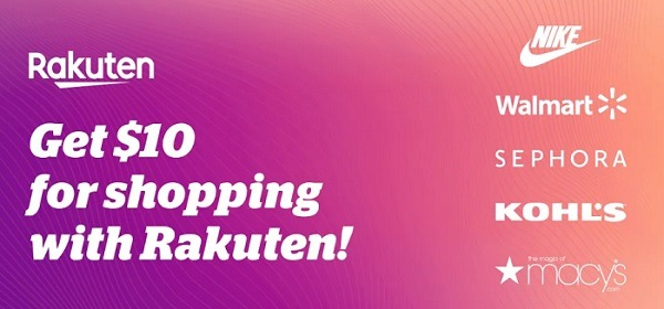 rakuten 10 dollar sign up bonus
