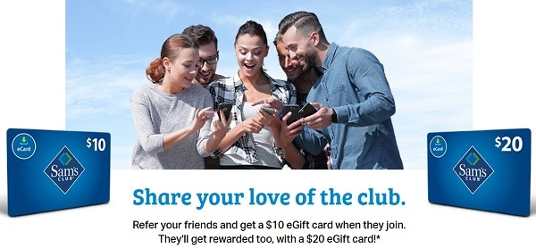 sams club referral sign up