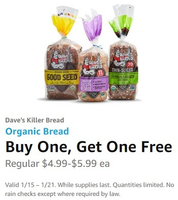 whole foods bogo free daves killer bread