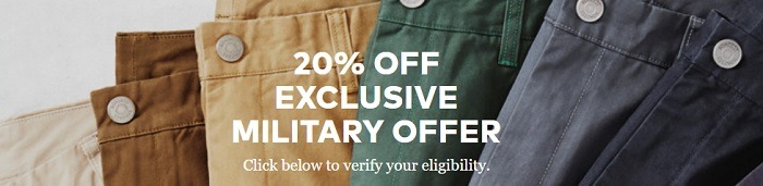 Bonobos Exclusive Military Offer