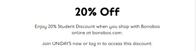 Bonobos Student Discount Promotion