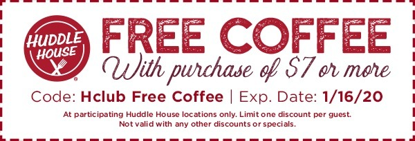 Free Coffee with $7 Purchase Coupon