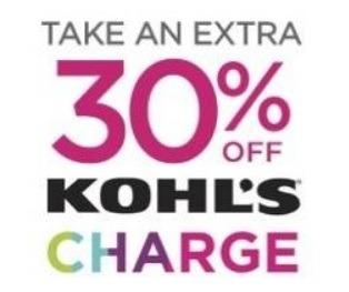 Kohl's Cardholder 30% Promotion