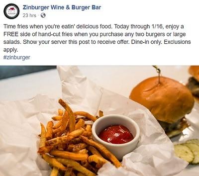 Zinburger free fries