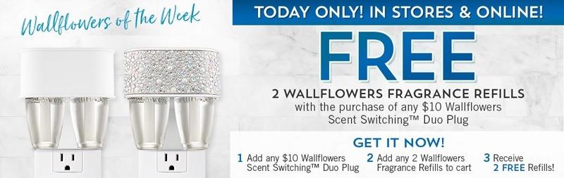 Get 2 Free Wallflower Fragrance Refills w/ Wallflower Duo Plug Purchase
