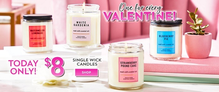 bath and body works 8 dollar single wick candles