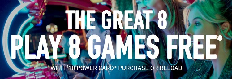 dave and busters play 8 games free
