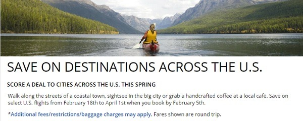 delta airlines spring destinations low fares