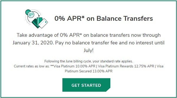 Digital FCU cardholder 0 percent APR promotion