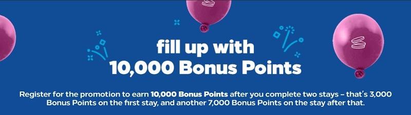 hilton 10,000 bonus points