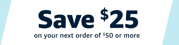 Get $25 Off $50 Purchase Coupon (YMMV)