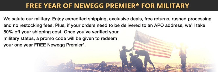 Newegg Military Discount