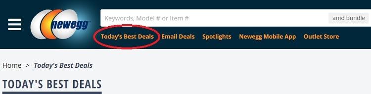 Newegg Todays best deals