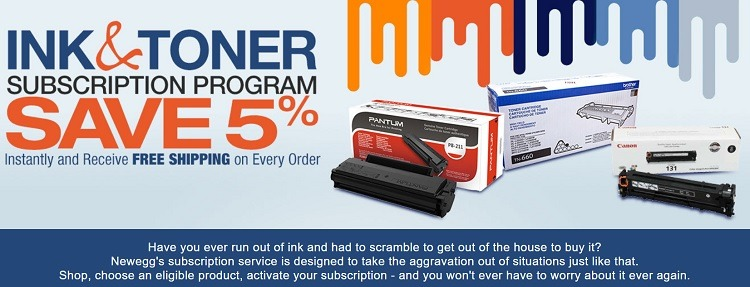 Newegg ink and toner subscription