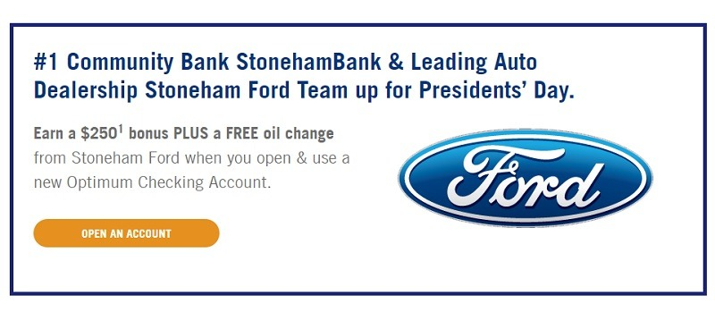 Stoneham Bank Promotions
