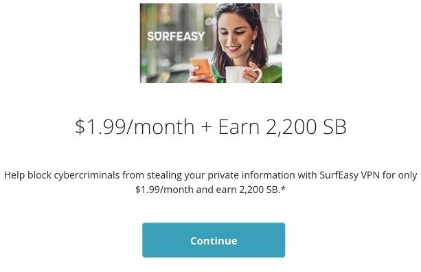 Get 2,200 SB w/ SurfEasy VPN Sign Up