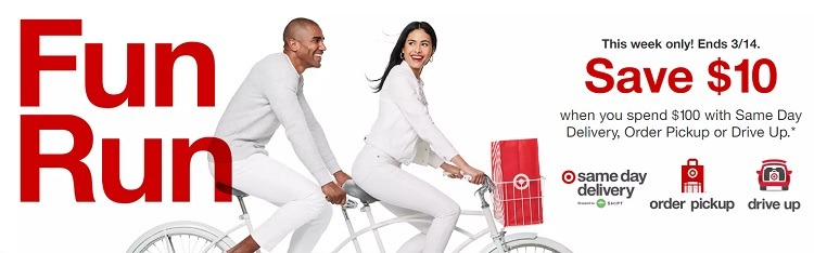 Target save 10 off 100 purchase