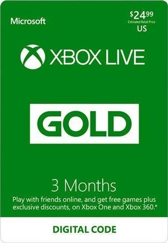 3-Month Xbox LIVE Gold Membership for $14.99