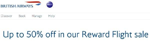 Up to 50% Off Reward Flights Sale