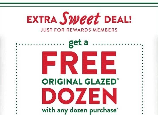 Free Orignal Glazed Dozen w/ Any Dozen Purchase