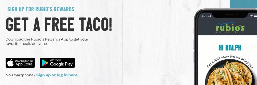 Free Taco w/ App Download