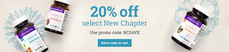 Vitacost 20 percent off new chapter