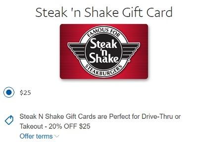 Steak n Shake Paypal GC Deal