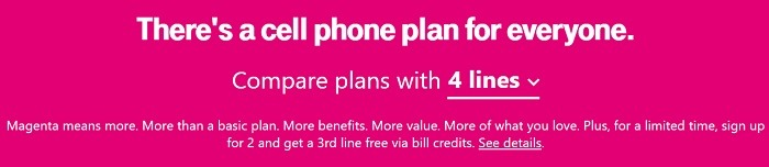 New or Existing Single-Line Customers Get a 3rd Line Free