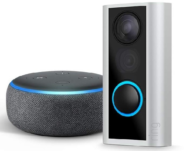 Ring Peephole Cam with Echo Dot (3rd Gen) for $79.99