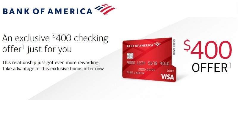 Bank of America Promotions Offers