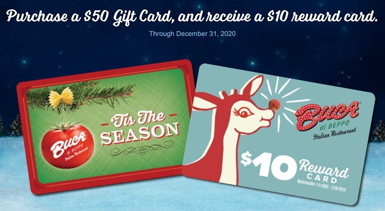 Buca di Beppo Gift Card Promotion