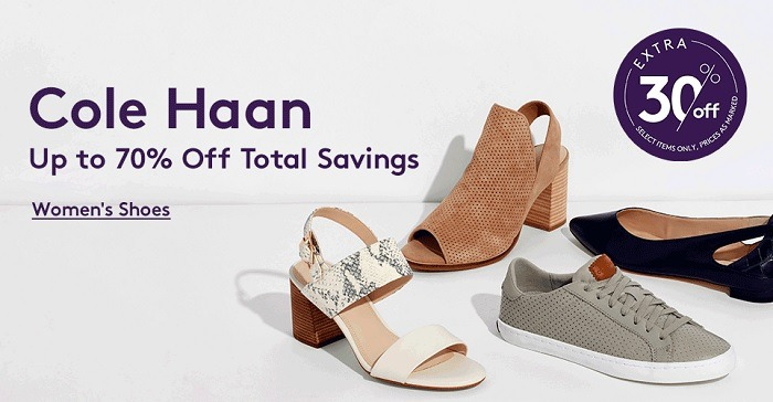 Extra 30% Off Select Cole Haan Styles