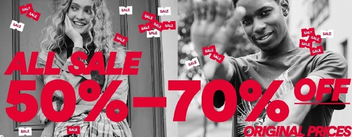 All Sale 50% to 70% Off Original Prices