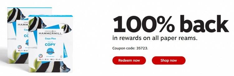 Earn 100% Back in Rewards w/ Single Reams of Paper Purchase
