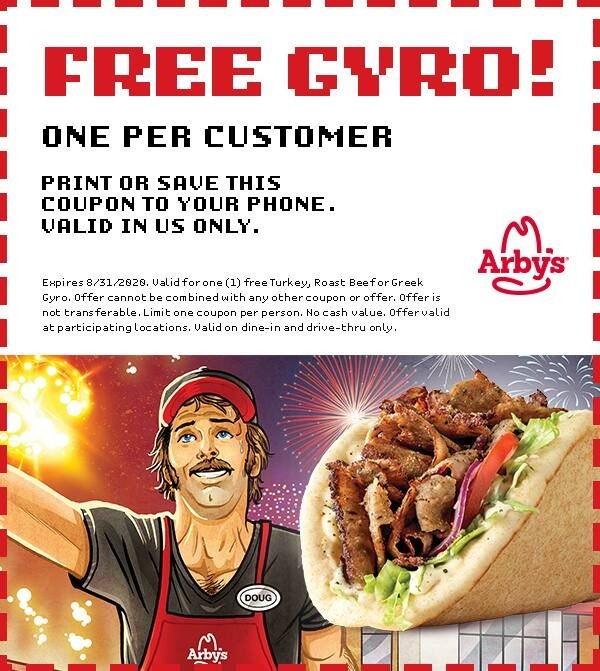 Free Gyro Coupon w/ Game Completion